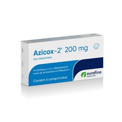 Antibioticoterapia Azicox 2 para Cães e Gatos com 6 comprimidos 200mg