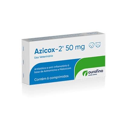 Antibioticoterapia Azicox 2 para Cães e Gatos com 6 comprimidos 50Mg