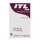 Antifúngico ITL para Cães e Gatos 10 cápsulas 100mg