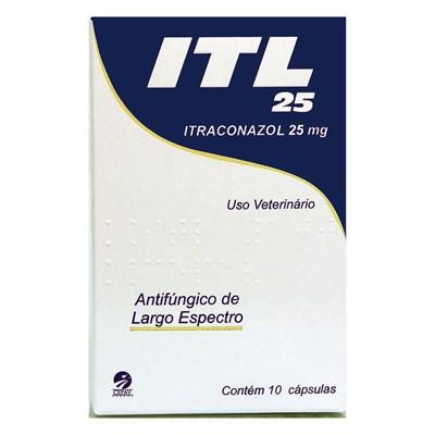 Antifúngico ITL para Cães e Gatos 10 cápsulas 25mg