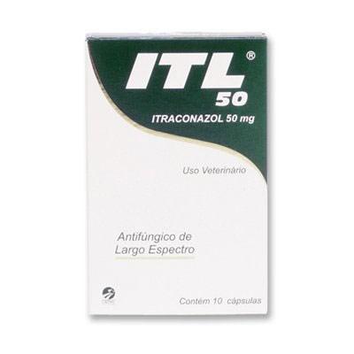 Antifúngico ITL para Cães e Gatos 10 cápsulas 50mg