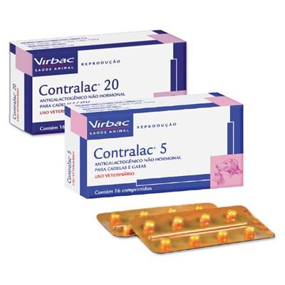 Antigalactogênico Contralac para Cães e Gatos com 16 comprimidos 20mg
