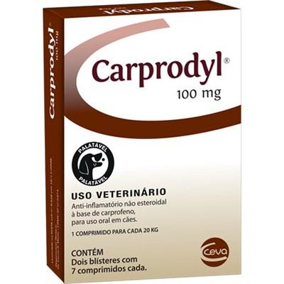 Antiinflamatório Carprodyl para Cães com 14 Comprimidos 100mg