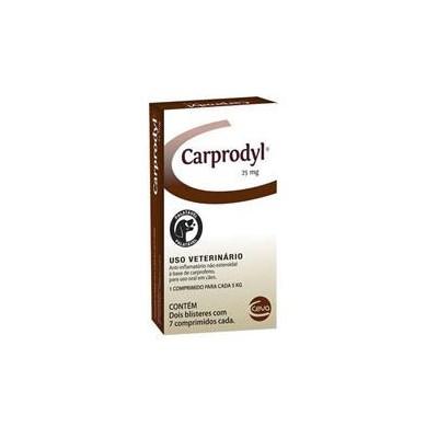 Antiinflamatório Carprodyl para Cães com 14 Comprimidos 25mg