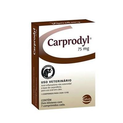 Antiinflamatório Carprodyl para Cães com 14 Comprimidos 75mg