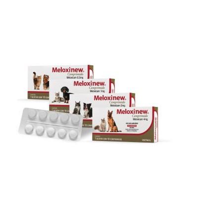 Antiinflamatório Meloxinew para Cães e Gatos Caixa com 10 Comprimidos 0,5 mg
