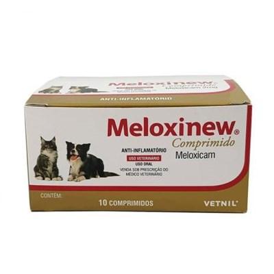 Antiinflamatório Meloxinew para Cães e Gatos com 10 Comprimidos 0,5 mg