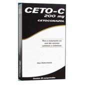 Antimicótico Ceto C para Cães e Gatos com 20 comprimidos 200mg