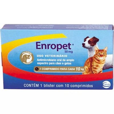 Antimicrobiano Enropet para Cães e Gatos 50mg