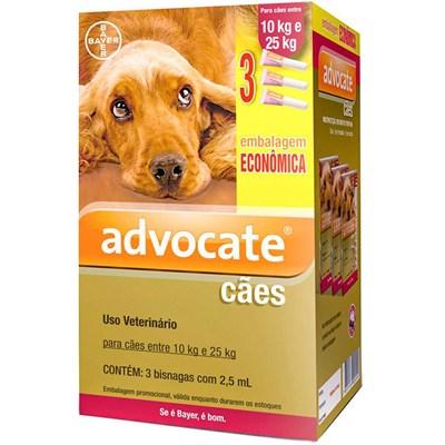 Antipulgas Advocate para Cães de 10 a 25kg 3Un