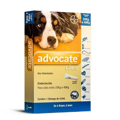 Antipulgas Advocate para Cães de 25 a 40kg 1Un