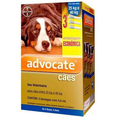 Antipulgas Advocate para Cães de 25 a 40kg 3Un