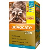 Antipulgas Advocate para Cães de 4 a 10kg 3Un