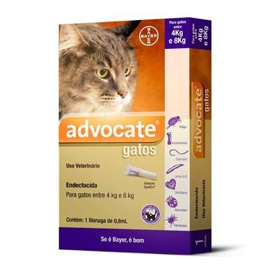 Antipulgas Advocate para Gatos de 4 a 8kg 0,8 ml