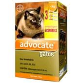 Antipulgas Advocate para Gatos de até 4kg 3Un