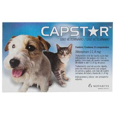 Antipulgas Capstar 11,4mg para Cães e Gatos 6Un