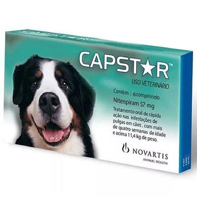 Antipulgas Capstar 57mg para Cães 6Un