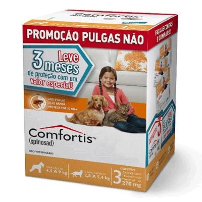 Antipulgas Combo Comfortis Cachorro de 4,5kg a 9kg e Gatos de 2,8kg a 5,4kg