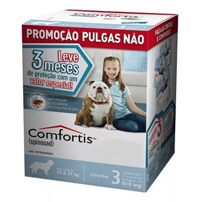Antipulgas Comfortis para Cães de 18kg a 27kg 3Un