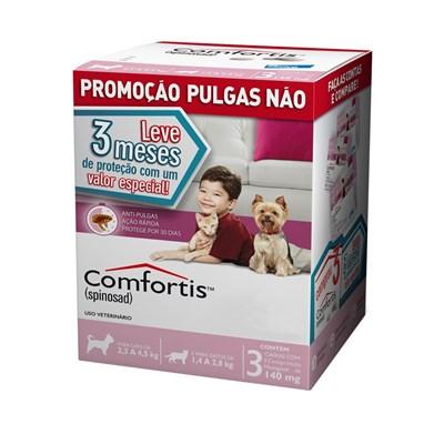 Antipulgas Comfortis para Cães de 2,3kg à 4,5kg e Gatos de 1,4kg à 2,8kg
