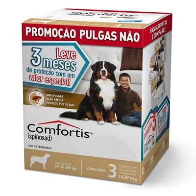 Antipulgas Comfortis para Cães de 27kg a 54kg 3Un