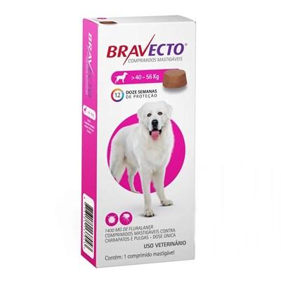 Antipulgas e Carrapatos Bravecto para Cães de 40 a 60kg 1400mg