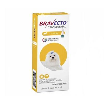 Antipulgas e Carrapatos Bravecto Transdermal para Cães em Pipetas 112,5 mg