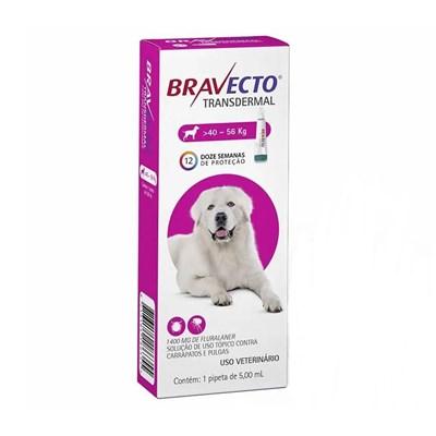 Antipulgas e Carrapatos Bravecto Transdermal para Cães em Pipetas 1400mg