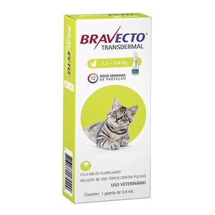 Antipulgas e Carrapatos Bravecto Transdermal para Gatos em Pipetas de 1,2kg à 2,8kg