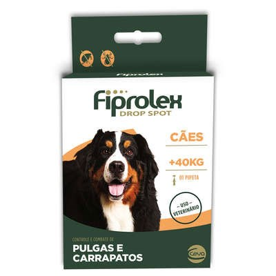 Antipulgas e Carrapatos Fiprolex para Cães acima de 40kg 1Un