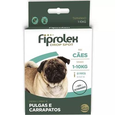 Antipulgas e Carrapatos Fiprolex para Cães até 10kg 1Un
