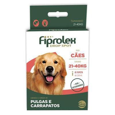 Antipulgas e Carrapatos Fiprolex para Cães de 21kg a 40kg 1Un