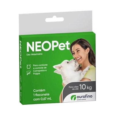 Antipulgas e Carrapatos Neopet 0,67ml Cães até 10Kg Ourofino
