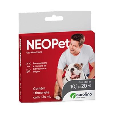 Antipulgas e Carrapatos Neopet 1,34ml Cães 10,1 até 20Kg Ourofino