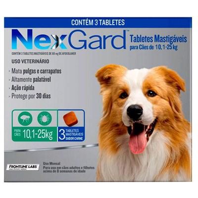 Antipulgas e Carrapatos Nexgard G para Cães de 10 a 25kg 3Un