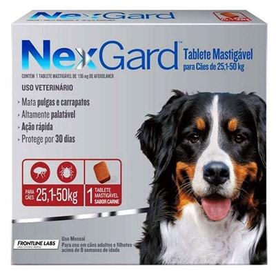 Antipulgas e Carrapatos Nexgard GG para Cães de 25 a 50kg 1Un