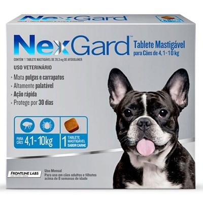 Antipulgas e Carrapatos Nexgard M para Cães de 4 a 10kg 1Un