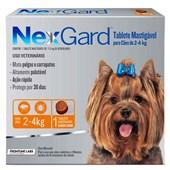Antipulgas e Carrapatos Nexgard P para Cães de 2 a 4kg 1Un