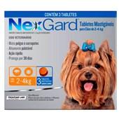 Antipulgas e Carrapatos Nexgard P para Cães de 2 a 4kg 3Un