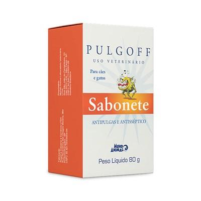 Antipulgas e Carrapatos Pulgoff Sabonete para Cães e Gatos 80gr