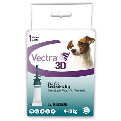 Antipulgas e Carrapatos Vectra de 4kg a 10kg para Cães 1Un