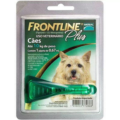 Antipulgas Frontline Plus para Cães até 10kg 0,67 ml