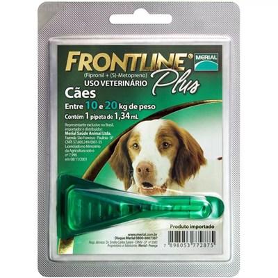 Antipulgas Frontline Plus para Cães de 10 a 20kg 1,34 ml