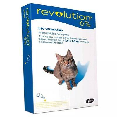 Antipulgas Revolution Azul para Gatos de 2,6 a 7,5kg 1Un