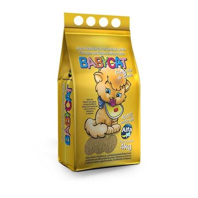 Areia Higiênica Baby Cat Perfumada para Gatos Filhotes 4kg