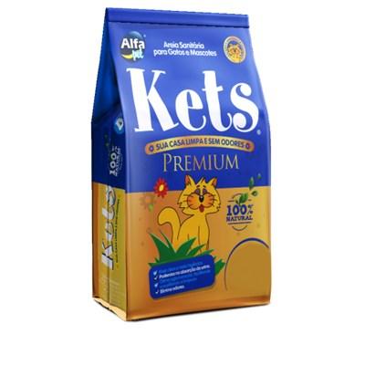 Areia Higiênica Kets Premium Granulado para Gatos 12kg