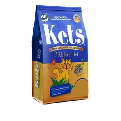 Areia Higiênica Kets Premium Granulado para Gatos 4kg