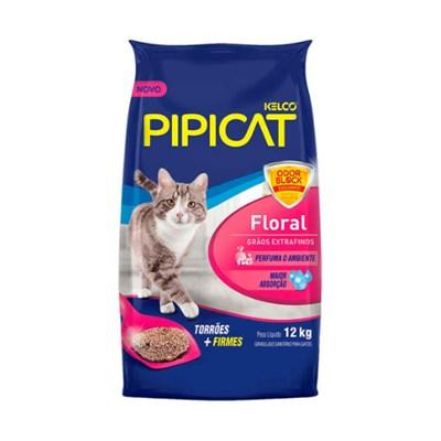 Areia para Gatos Pipicat Floral 12kg
