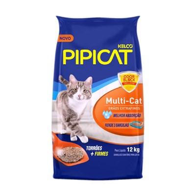 Areia para Gatos Pipicat Multicat 12kg