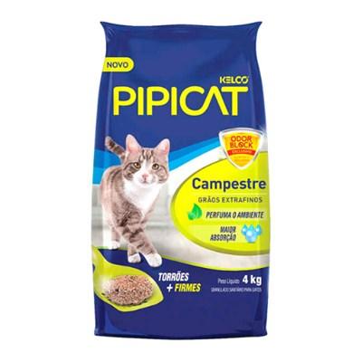 Areia para Gatos Pipicat Perfumado Campestre 4kg